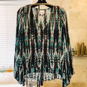 Parker Silk Double Layered Long Sleeved Blouse
